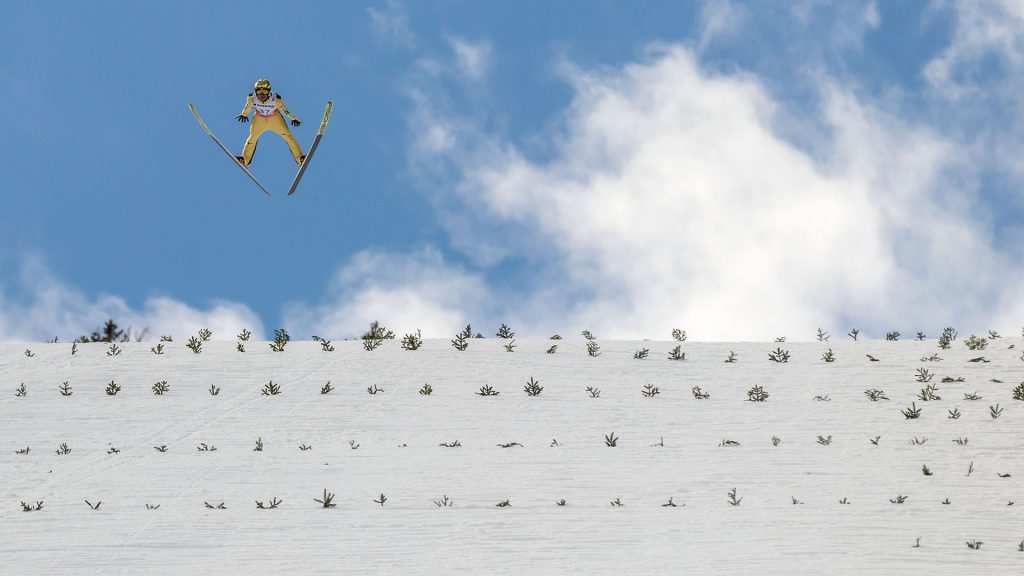 Ski Flying in Planica, the legend Noriaki Kasai from Japan